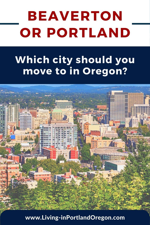 Living in Beaverton vs Portland Oregon pins (2)