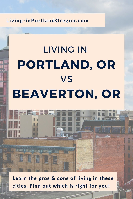 Living in Beaverton vs Portland Oregon pins (4)