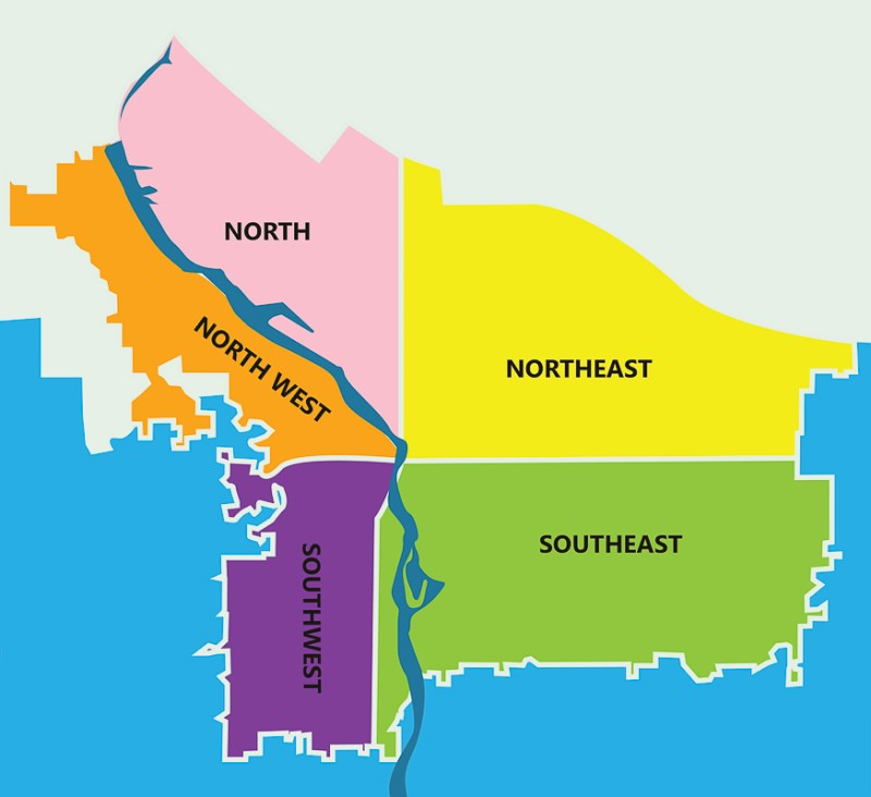Portland Oregon Region map, Real Agent Now Portland Real Estate Agents