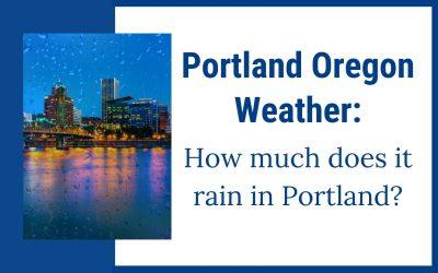 Portland Oregon weather, how much does it rain in Portland ?