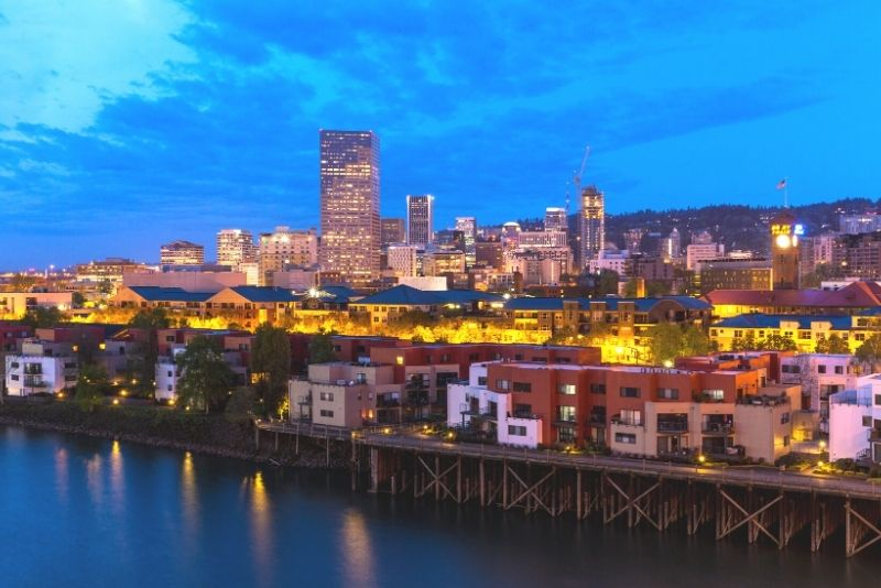 Willamette River and downtown Portland Oregon at night, Most Asked Questions about Moving to Portland Oregon