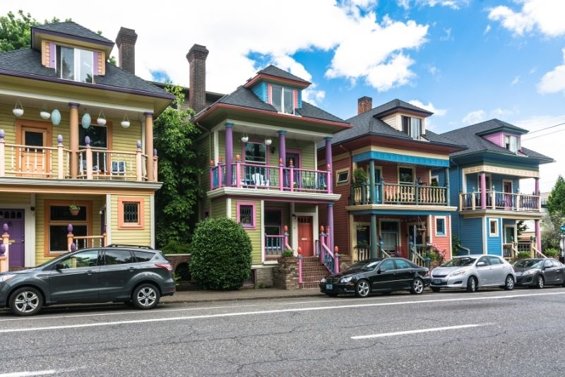 colorful historic homes in Portland, Most Asked Questions about Moving to Portland Oregon
