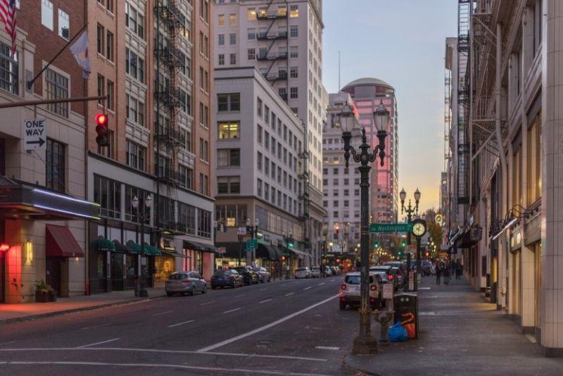 downtown Portland Oregon street, Neighborhoods of Northeast Portland Oregon