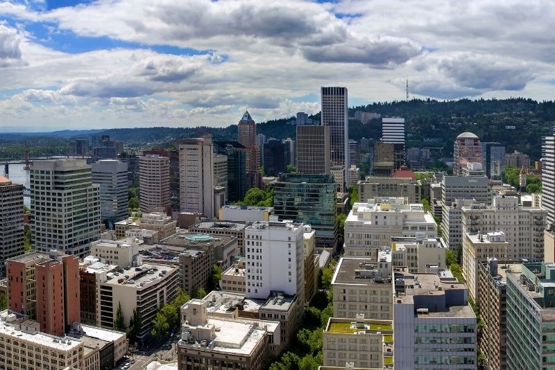 downtown Portland view, Living in North Portland Oregon