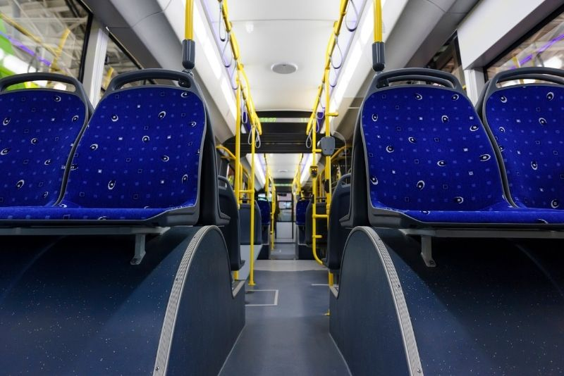 inside a public bus, Cost of living in Salem Oregon, Living in Portland Oregon real estate