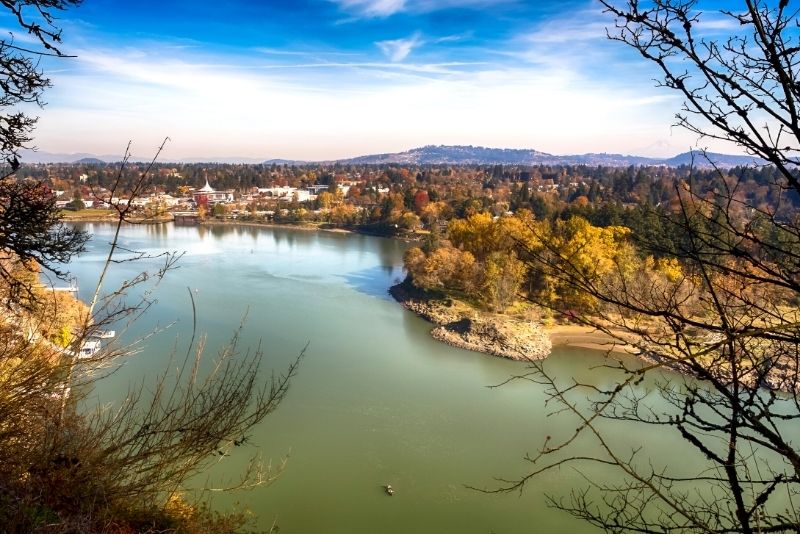 view of Milwaukie Oregon from the river, Top 5 Best Areas to live in Portland Oregon